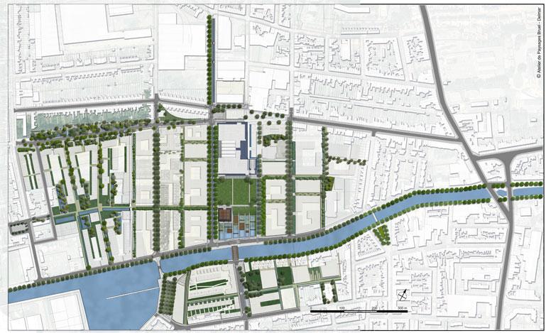Atelier de paysages Bruel DelmarÉcoquartier des Rives de la Haute De u00fbleà Lille # Quartier Bois Blanc Lille