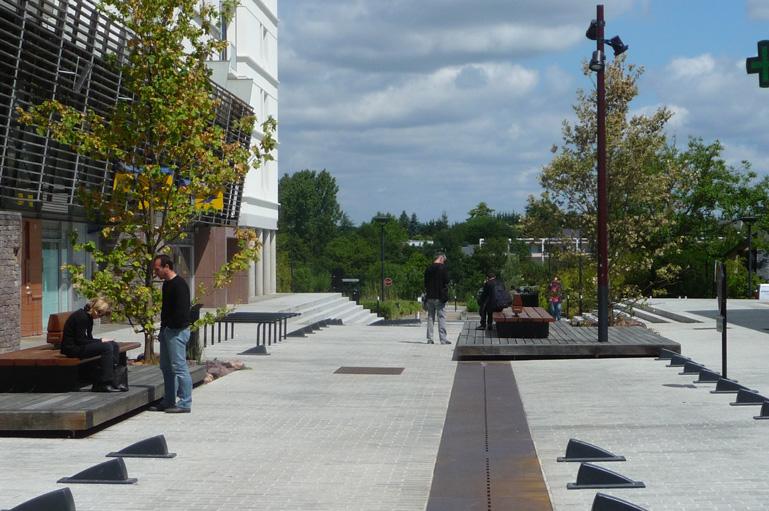 Atelier de paysages bruel delmar quartier de la morinais for Les espaces publics urbains